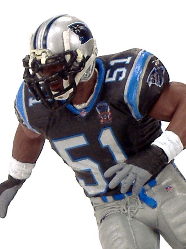 low priced 6b8e3 d94b9 Sam Mills, Carolina Panthers – Play Action Customs
